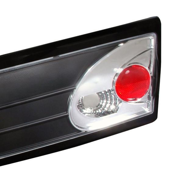 2003-2005 Chevrolet Cavalier Trunk Tail Lights (Matte Black Housing/Clear Lens)