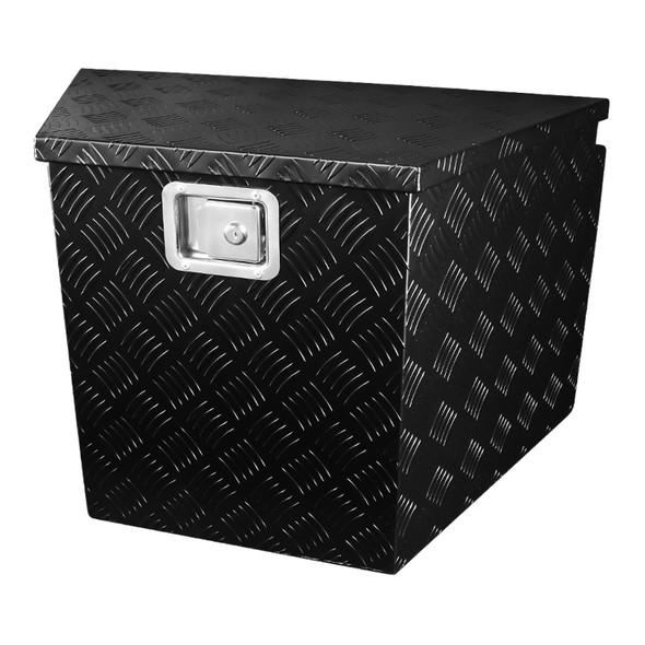 "Universal 29"" Black Aluminum Tool Box w/ Lock & Keys"