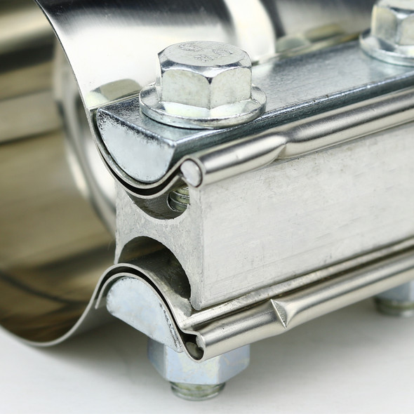 """Universal 2.5"""" Downpipe/ Catback/ Muffler Exhaust T-304 Stainless Steel Band Clamps"""