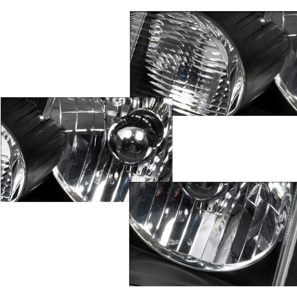 2001-2011 Ford Ranger Factory Style Crystal Headlights (Matte Black Housing/Clear Lens)