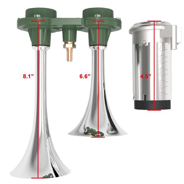 Chrome 115db x2 Air Horn w/ Compressor Kit
