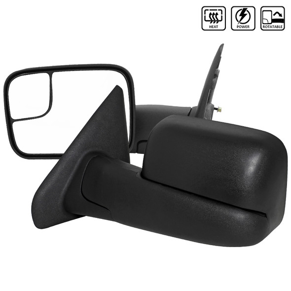 2002-2008 Dodge Ram Power Towing Mirrors with Heat Function