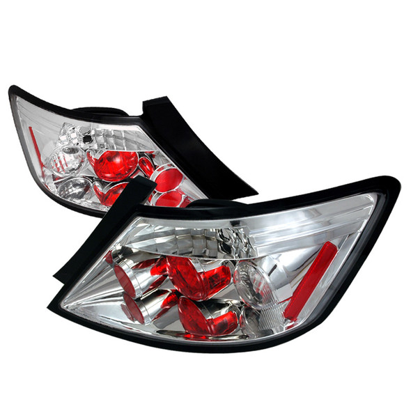 2006-2011 Honda Civic Coupe Altezza Tail Lights (Chrome Housing/Clear Lens)