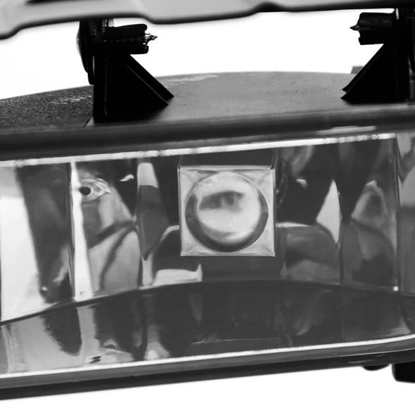 2002-2006 Cadillac Escalade Bumper Fog Lights (Chrome Housing/Clear Lens)
