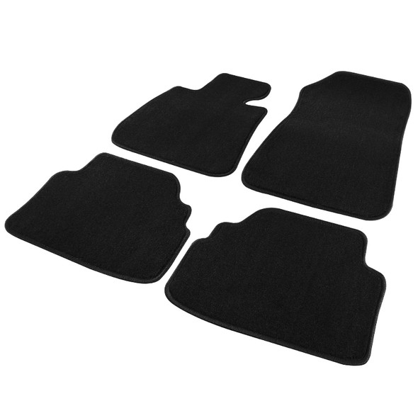 2007-2013 BMW E92 3 Series 2-Door Cotton Carpet Floor Mats - 4 PCS (Black)
