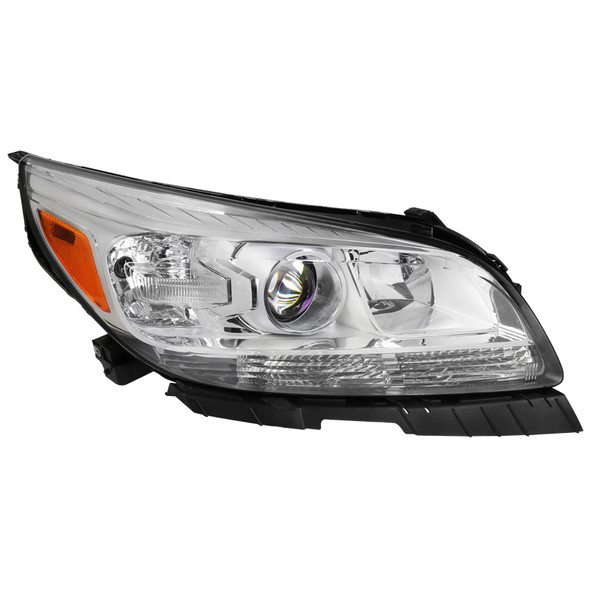 2013-2016 Chevrolet Malibu Clear Lens Projector Headlight w/ Amber Reflector - Right/Passenger Side Only
