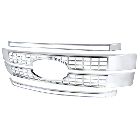 2017-2018 Ford F250 ABS Chrome Plated Grille Moulding