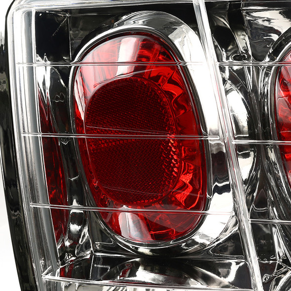 1999-2004 Ford Mustang Crystal Altezza Tail Lights (Chrome Housing/Clear Lens)