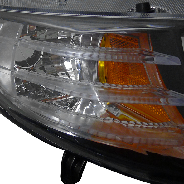 2006-2011 Honda Civic Coupe LED Halo Strip Projector Headlights (Matte Black Housing/Clear Lens)