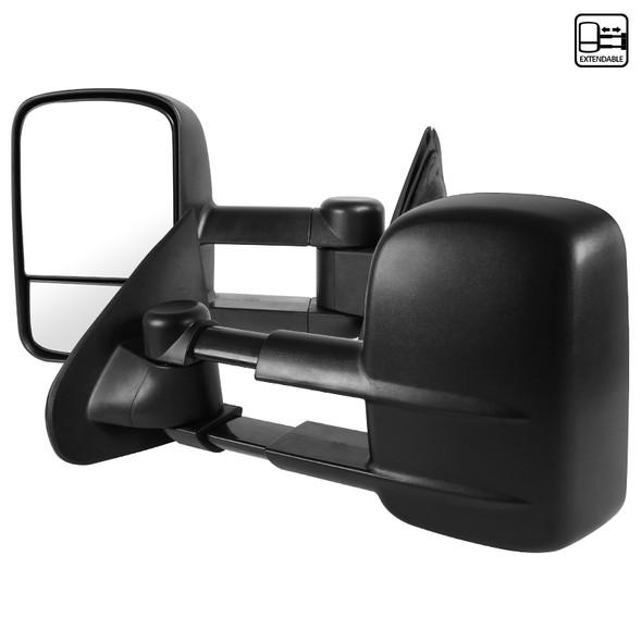 2014-2018 Chevrolet GMC Silverado/Sierra Manual Black Towing Side Mirrors