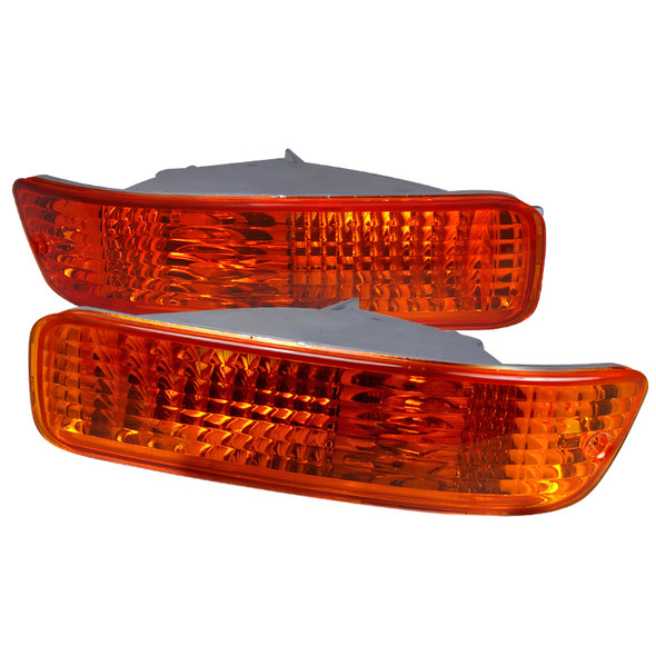 1992-1993 Acura Integra Bumper Lights (Chrome Housing/Amber Lens)