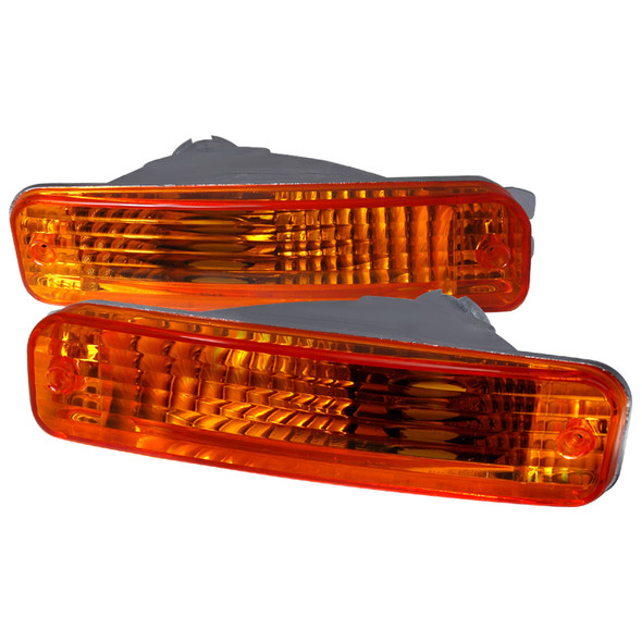 1990-1991 Acura Integra Bumper Lights (Chrome Housing/Amber Lens)