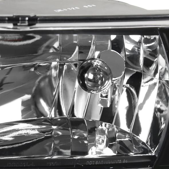 1994-2002 Dodge RAM Factory Style Headlights Amber Reflector (Matte Black Housing/Clear Lens)