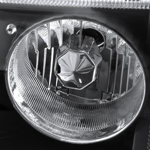 1993-1997 Ford Ranger Projector Headlights (Matte Black Housing/Clear Lens)