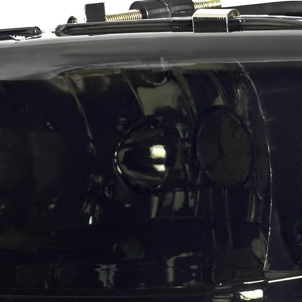 1997-2004 Dodge Dakota/ 1998-2003 Durango Crystal Headlights w/ Amber Reflector (Chrome Housing/Smoke Lens)