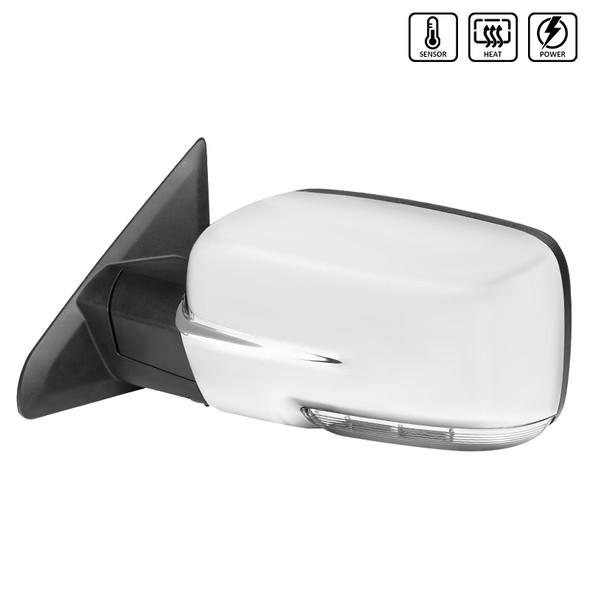 2013-2019 Dodge RAM Power Heated Side Mirror w/ LED Signal/Puddle Light - Driver Side (Chrome)