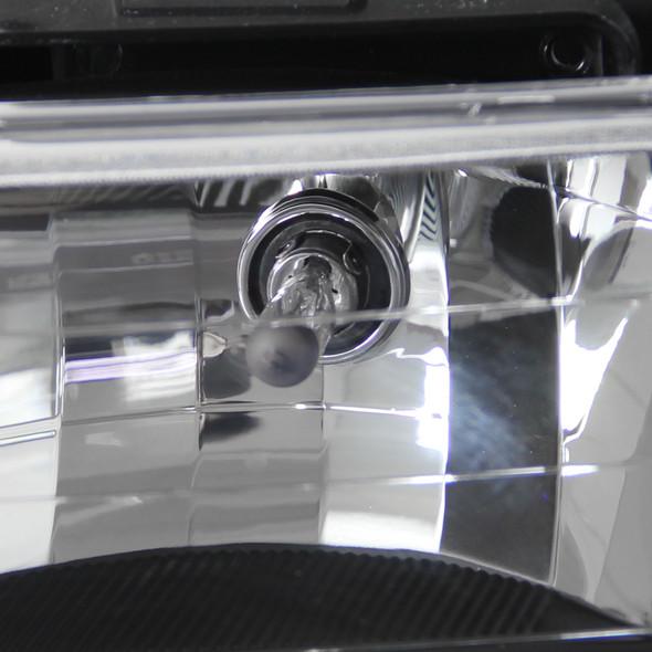 1994-1998 GMC C10/Sierra/Suburban/Yukon Headlights Pair w/ Corner & Bumper Lights (Matte Black Housing/Clear Lens)