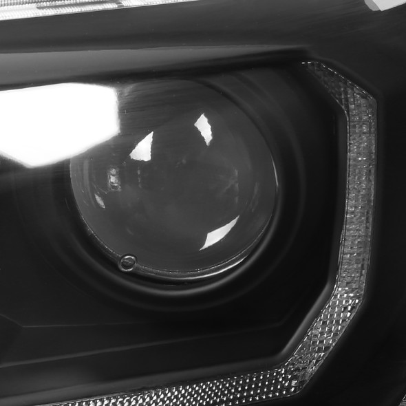 2016-2018 Toyota Tacoma LED Bar Projector Headlight (Matte Black Housing/Clear Lens)