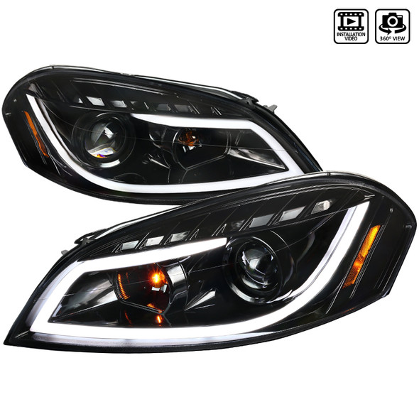 2006-2015 Chevrolet Impala Limited/Monte Carlo Projector Headlights (Jet Black Housing/Clear Lens)