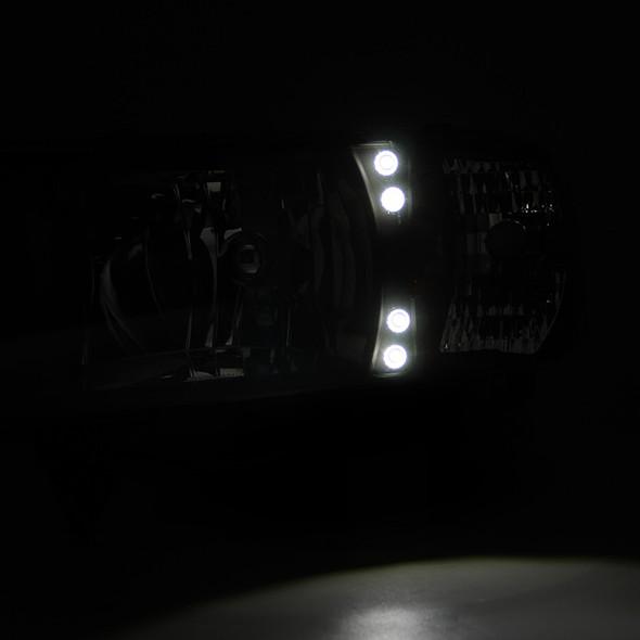 1994-2002 Dodge RAM LED Factory Style Headlights (Chrome Housing/Clear Lens)