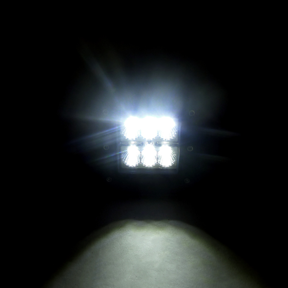 Universal 6 LED Flush Mount Work Fog Lamps