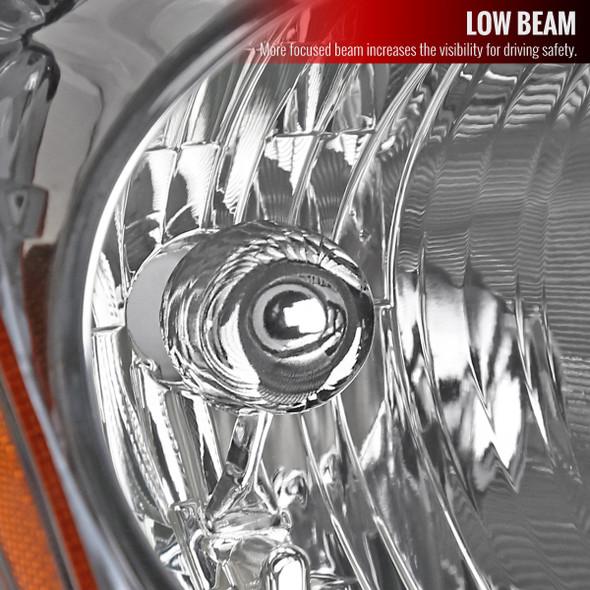 2010-2012 Nissan Altima Sedan Factory Style Headlights Right/Passenger Side (Chrome Housing/Clear Lens)