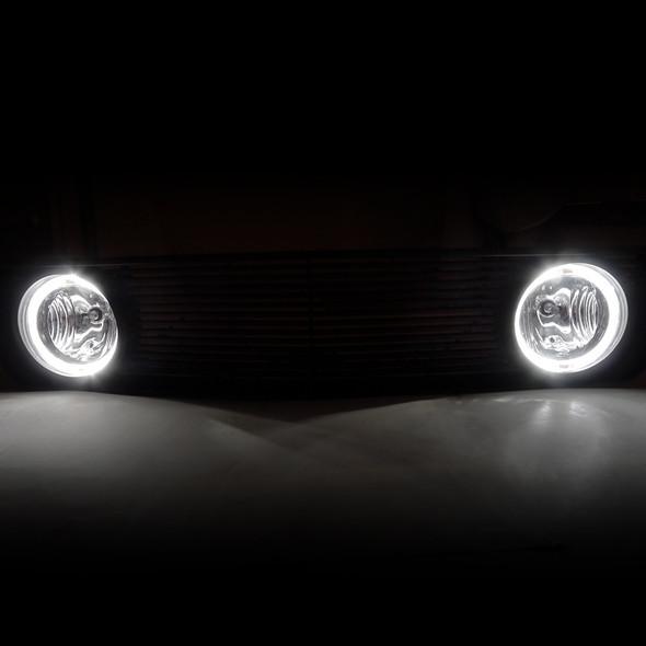 2005-2009 Ford Mustang V6 Black ABS Grille w/ Dual H10 Fog Lights