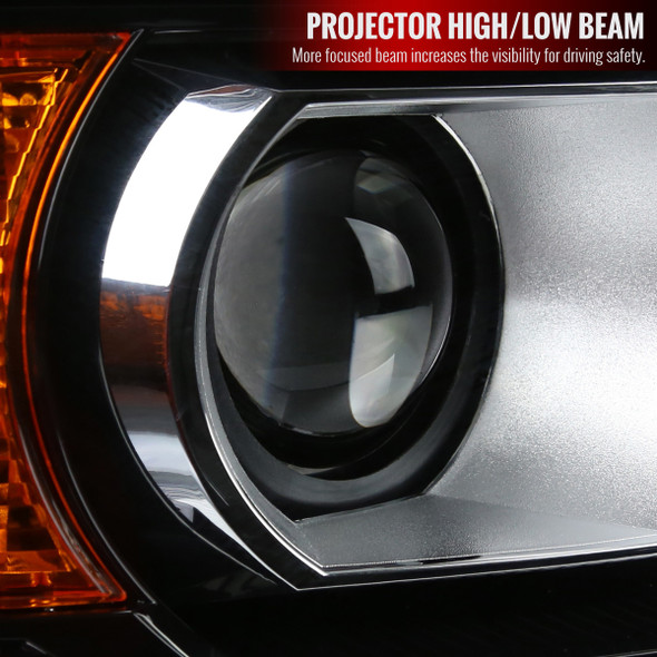 2015-2019 GMC Sierra 1500 2500 3500 HD Factory Style Projector Headlights Right/Passenger Side (Chrome/Clear Lens)