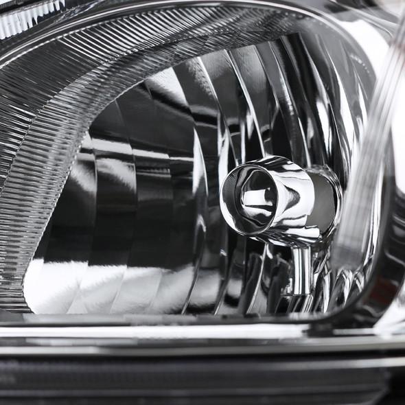 2005-2010 Chevrolet Pontiac Cobalt/Pursuit/G5 Headlights w/ Amber Reflector (Chrome Housing/Clear Lens)