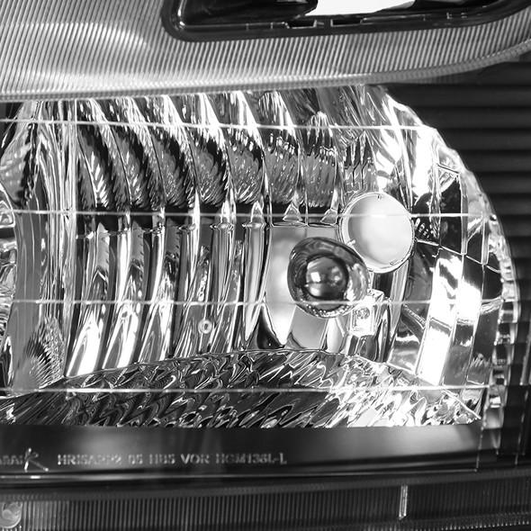 2005-2009 Chevrolet Equinox Factory Style Headlights w/ Amber Reflectors (Matte Black Housing/Clear Lens)