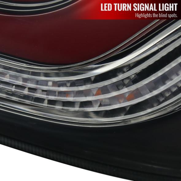 2016-2020 Honda Civic 4DR Sedan LED Tail Lights w/ Sequential Turn Signal (Glossy Black Housing/Smoke Lens)