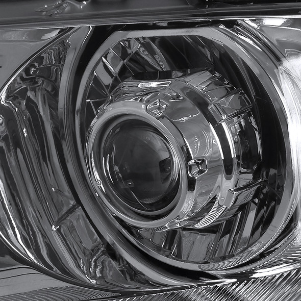 2004-2008 Ford Lincoln F-150/Mark LT Projector Headlights w/ Amber Reflectors (Chrome Housing/Clear Lens)
