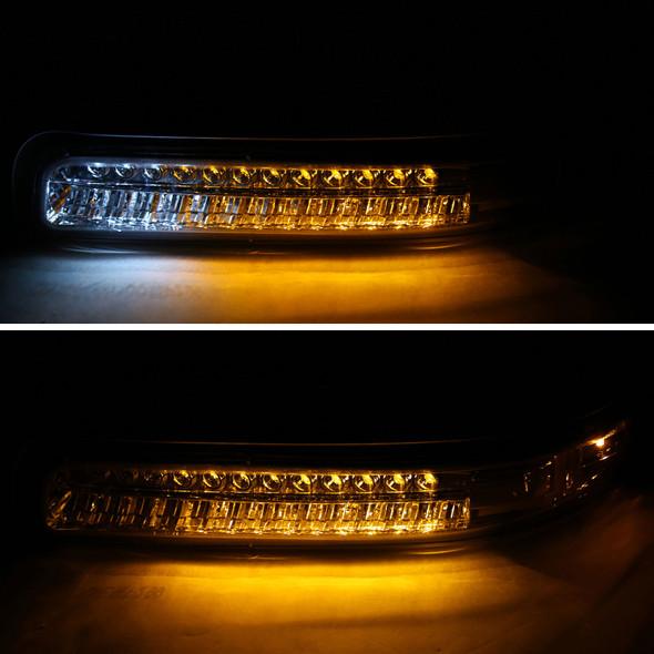 1999-2002 Chevrolet Silverado / 2000-2006 Chevrolet Tahoe & Suburban LED Bumper Lights (Chrome Housing/Clear Lens)