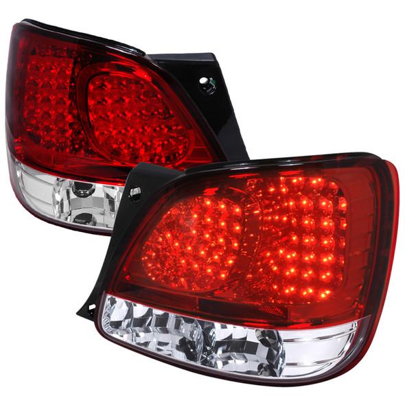 1998-2005 Lexus GS300 / 400 LED Altezza Tail Lights (Chrome Housing/Red Lens)