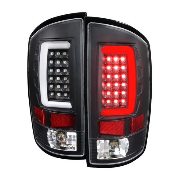 2007-2009 Dodge RAM 1500/2500/3500 LED Tail Lights (Matte Black Housing/Clear Lens)