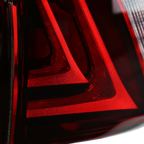 2006-2013 Lexus IS250/IS350/IS F LED Tail Lights (Chrome Housing/Red Lens)