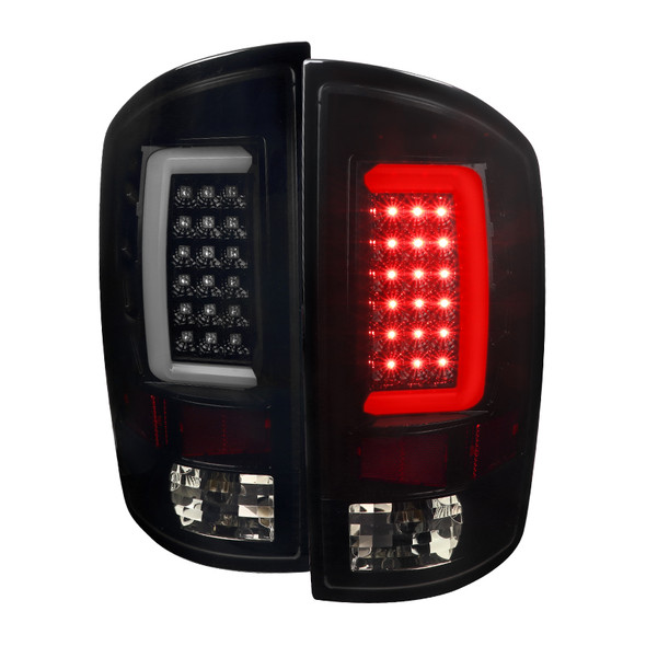 2007-2009 Dodge RAM 1500/2500/3500 LED Tail Lights (Glossy Black Housing/Smoke Lens)