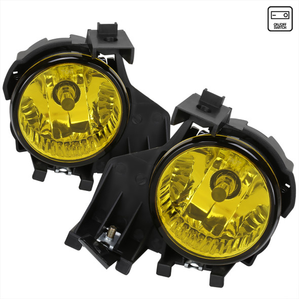 2008-2011 Subaru Impreza WRX 9006 HB4 Fog Lights (Chrome Housing/Yellow Lens)