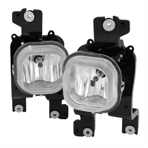 2008-2010 Ford F-250/F-350/F-450/F-550 Super Duty H10 Fog Lights (Chrome Housing/Clear Lens)