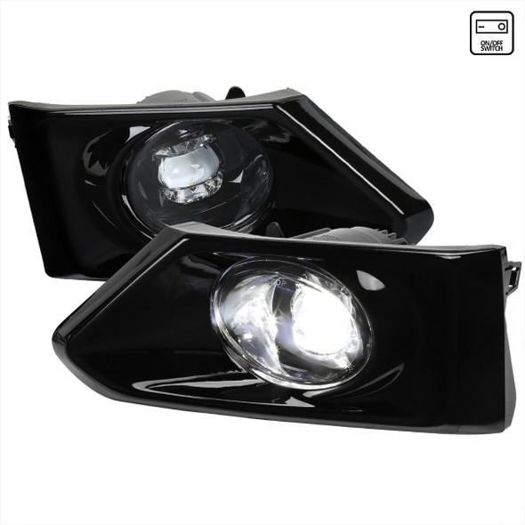 2019-2021 Nissan Altima 12v/6w LED Fog Lights Kit (Chrome Housing/Clear Lens)