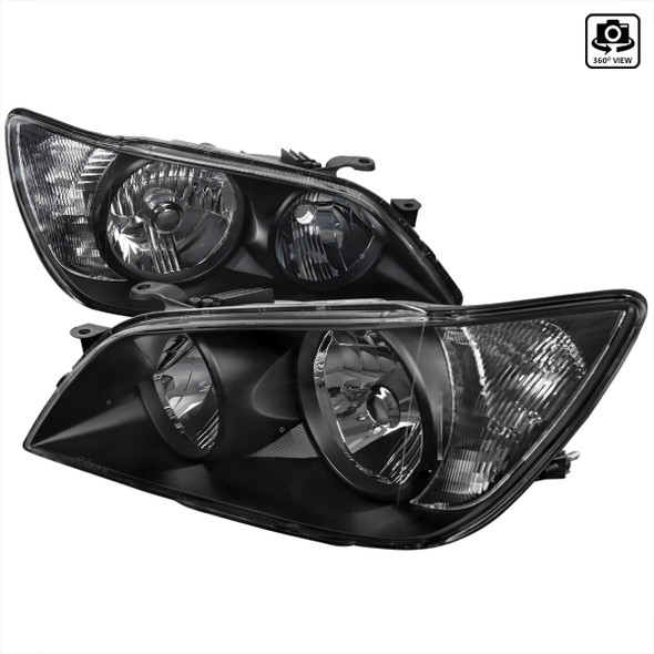 2001-2005 Lexus IS300 Factory Style Crystal Headlights (Matte Black Housing/Clear Lens)
