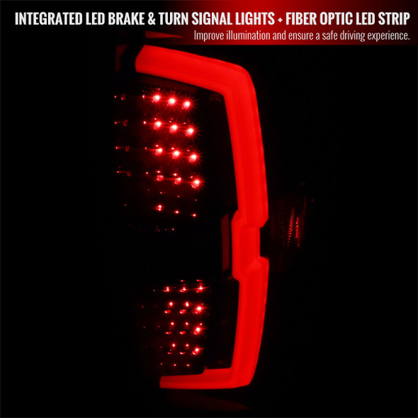 2016-2021 Toyota Tacoma LED Bar Tail Lights (Glossy Black Housing/Smoke Lens)
