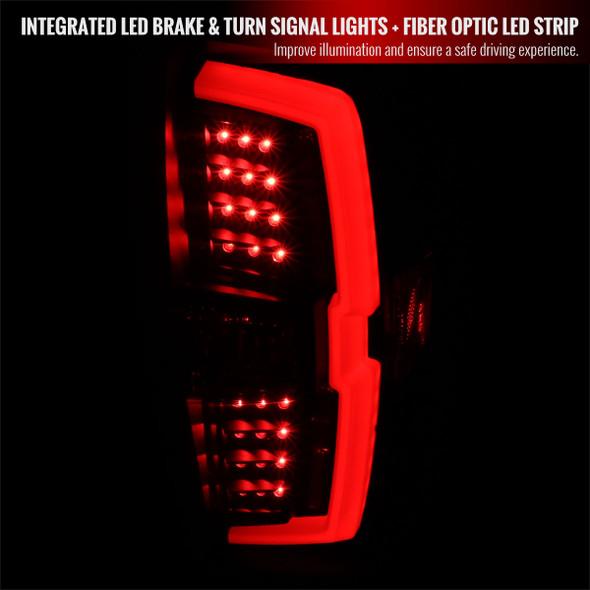 2016-2021 Toyota Tacoma LED Bar Tail Lights (Matte Black Housing/Clear Lens)