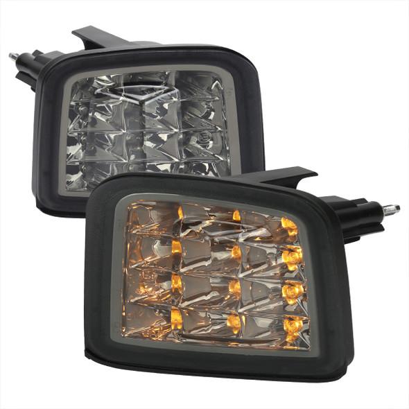 2015-2021 Subaru WRX / 2015-2017 WRX STI Sequential Front Bumper LED Turn Signal Lights (Chrome Housing/Smoke Lens)