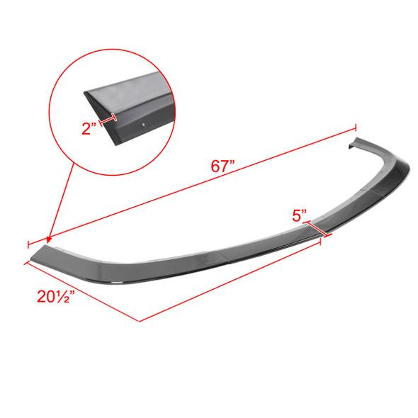 2015-2021 Dodge Challenger SXT Glossy Black 3PC Front Bumper Lip Splitter Kit