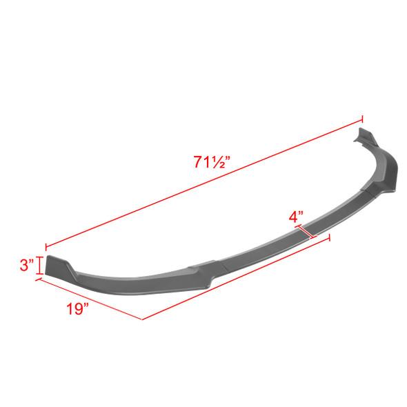 2018-2021 Kia Stinger Matte Black 3PC Front Bumper Lip Splitter Kit