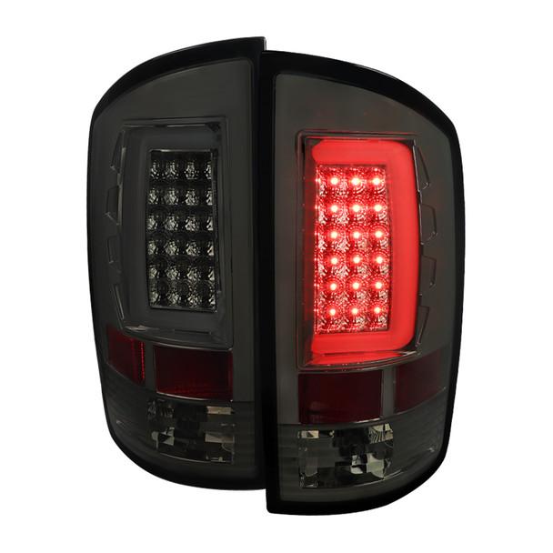 2007-2009 Dodge RAM 1500/2500/3500 LED Tail Lights (Chrome Housing/Smoke Lens)