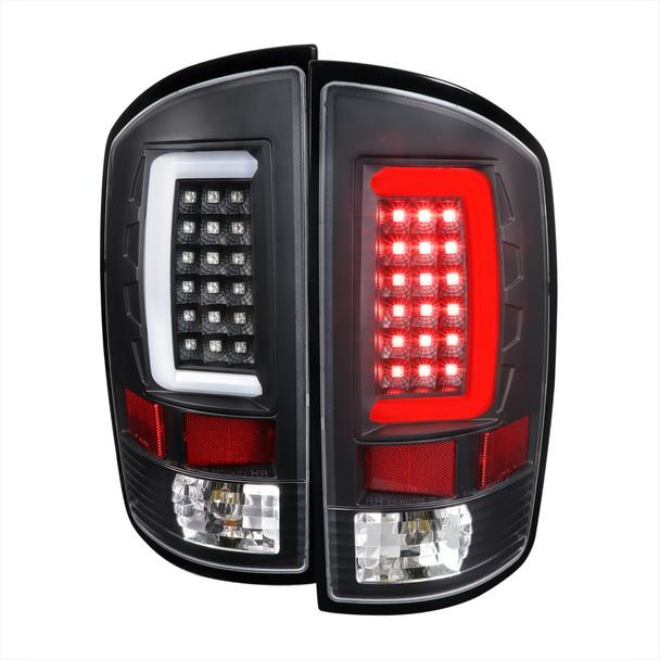 2002-2006 Dodge RAM 1500 2500 3500 LED Tail Lights -G2 (Matte Black Housing/Clear Lens)