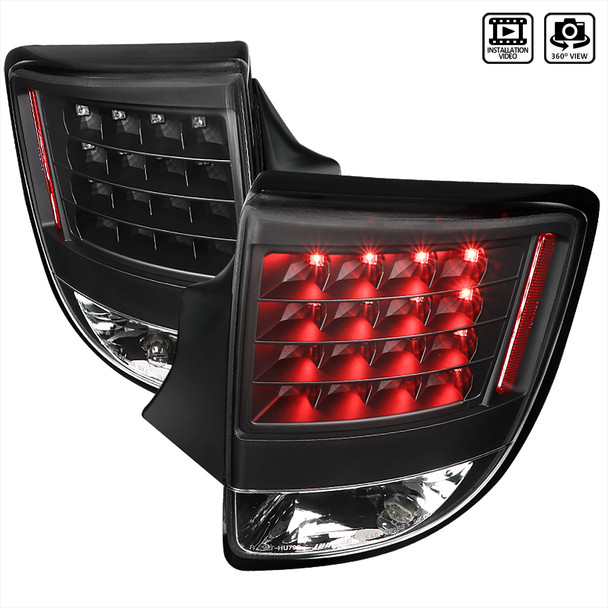 2000-2005 Toyota Celica V2 LED Tail Lights (Matte Black Housing/Clear Lens)