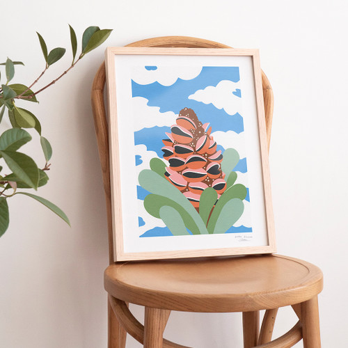 Sunny Banksia Art Print by Outer Island